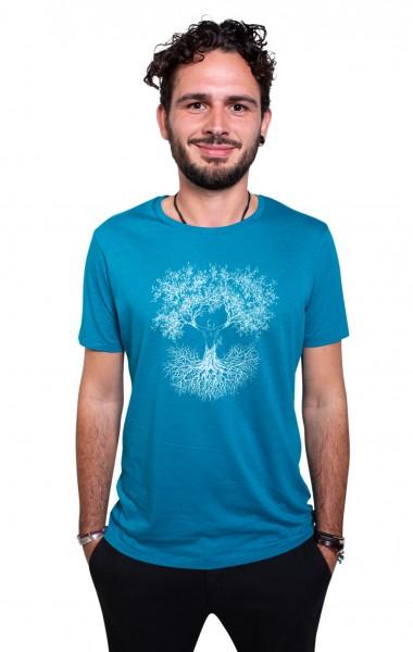 Fairwear Modal Shirt Men Ocean Blue Fusion