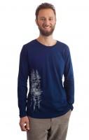 Fairwear Organic Longsleeve Men Denim Blue Fichtenwald