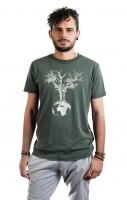 Fairwear Organic Shirt Men Stone Washed Green Weltenbaum M