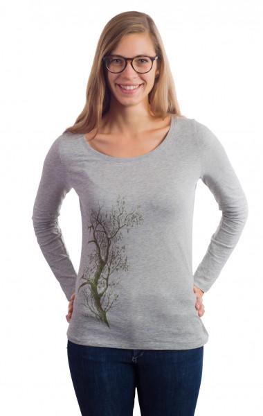 Fairwear Organic Longsleeve Women Heather Grey Esche