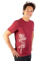 Fairwear Organic Shirt Men Burgundy Kiefer