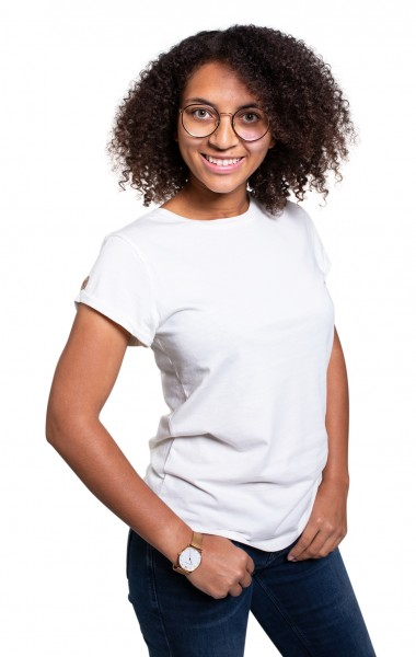Fairwear Organic Basic Shirt Women Stone Washed White