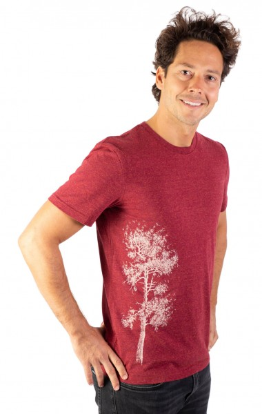 Fairwear Organic Shirt Men Burgundy Kiefer