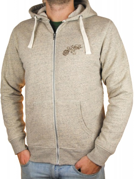 Fairwear Organic Zipper Sherpa Hoodie Men Heather Clay