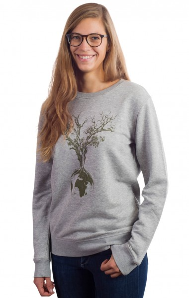 Fairwear Organic Sweater Women Heather Grey Weltenbaum