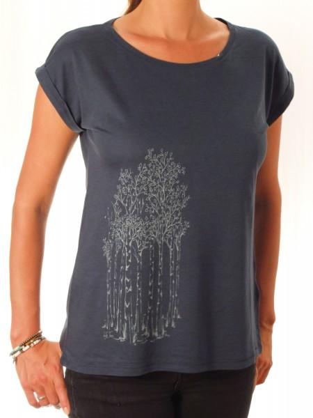 Fairwear Bambus Rolled-Up Shirt Denim Blue Birkenwald