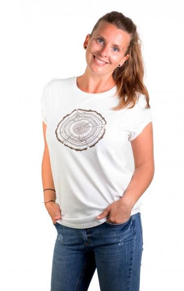 Fairwear Organic Shirt Women Stone Washed White Treeslice