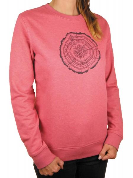 Fairwear Organic Sweater Women Treeslice Cranberry