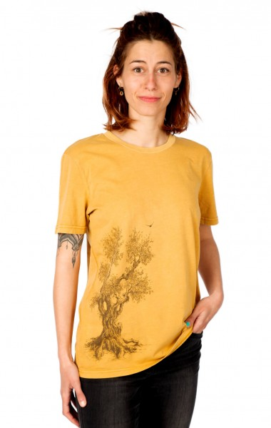Fairwear Organic Shirt Women Ocre Olive Tree