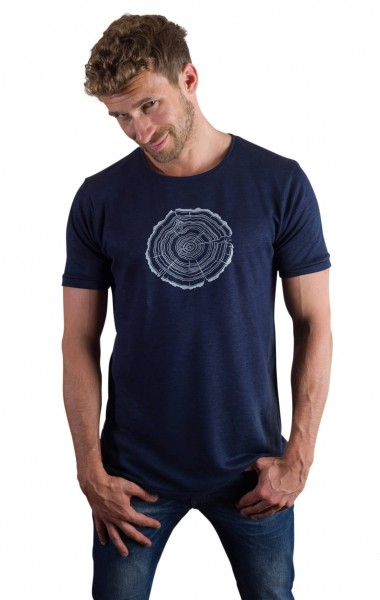 Fairwear Hanf Shirt Deep Blue Men Treeslice