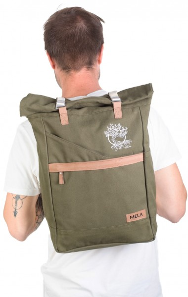 Life-Tree Fairtrade Backpack Olivegrün