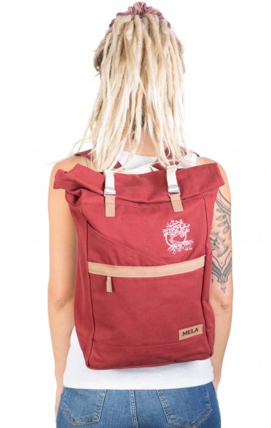 Life-Tree Fairtrade Backpack Burgundrot
