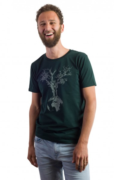 Fairwear Organic Shirt Scarab Green Weltenbaum