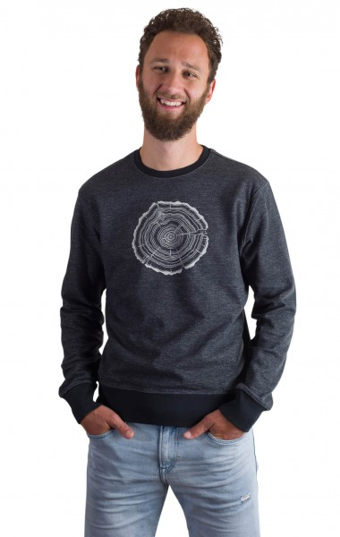 Fairwear Organic Sweater Men Limo Grey Treeslice