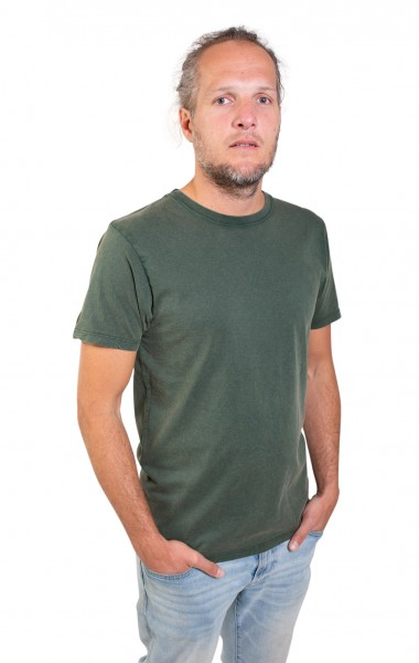 Fairwear Organic Basic Shirt Men Stone Washed Green