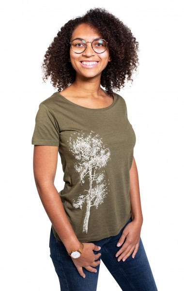 Fairwear Bambus Shirt Women Moss Green Kiefer