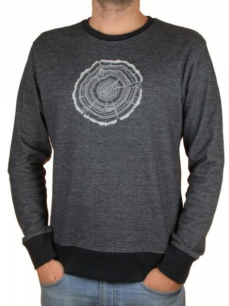 Fairwear Organic Sweater Men Limo Grey Treeslice