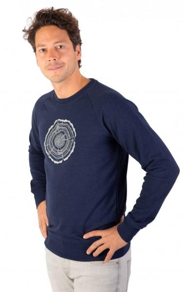 Fairwear Organic Sweater Men Denim Blue Treeslice