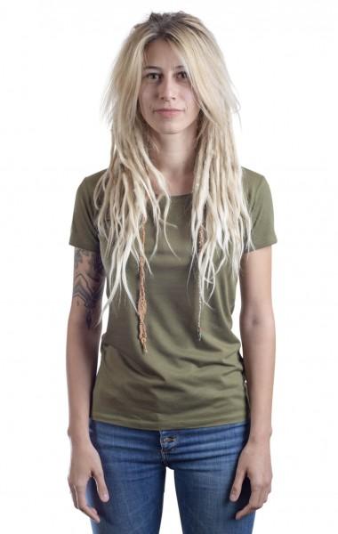 Fairwear Bambus Basic Shirt Women Moss Green