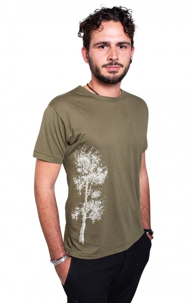 Fairwear Bambus Shirt Men Moss Green Kiefer