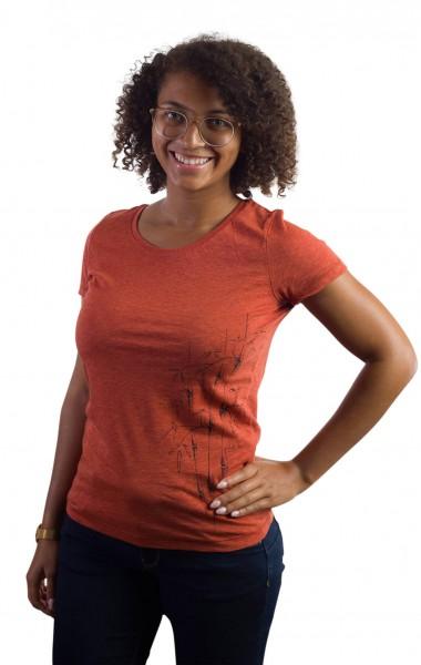 Fairwear Organic Shirt Women Brick Orange Bambusstudie