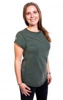 Fairwear Organic Basic Shirt Women Stone Washed Green