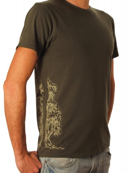 Fairwear Organic Shirt Army Green Men Devided