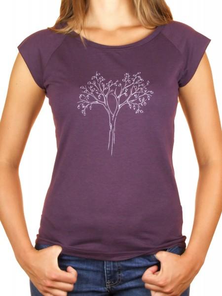 Fairwear Bambus Shirt Women Eggplant Reduced