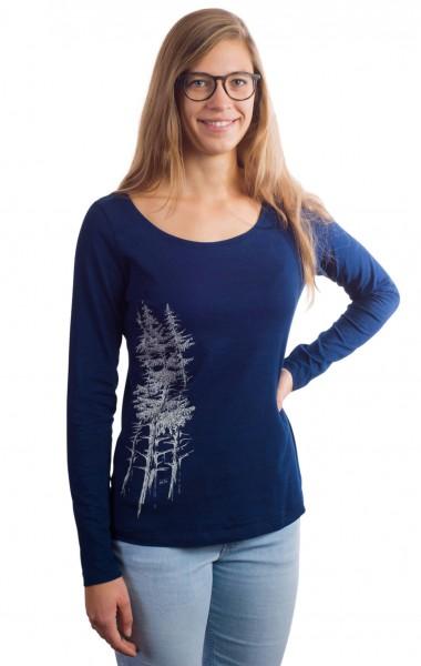 Fairwear Organic Longsleeve Women Denim Blue Fichtenwald