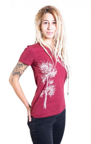 Fairwear Organic Shirt Women Burgundy Kiefer