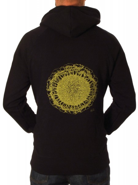 Fairwear Organic Unisex Zipper Earth-Roots BlackYellow