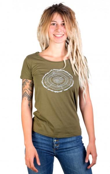 Fairwear Bambus Shirt Women Moss Green Treeslice