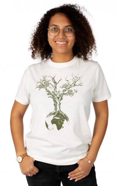 Fairwear Organic Shirt Unisex Stone Washed White Weltenbaum