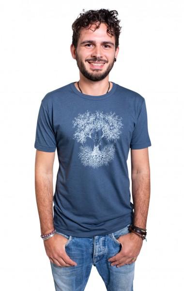 Fairwear Bambus Shirt Men Denim Blue Fusion