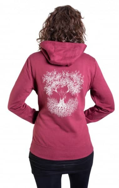 Fairwear Organic Hoodie Women Burgundy Fusion