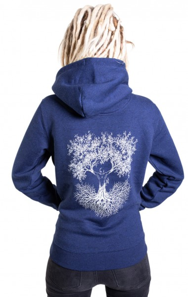 Fairwear Organic Hoodie Women Dark Blue Fusion
