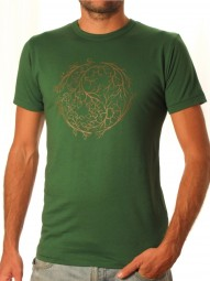 Fairwear Bambus Shirt Men Leaf Green YinYang