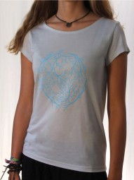 Fairwear Modal Shirt Grey Violet YinYang