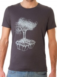 Fairwear Modal Shirt Men Anthrazite Birds Island