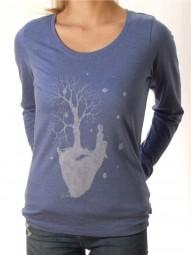 Fairwear Organic Longsleeve Women Heather Blue Dreamer