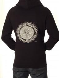 Fairwear Organic Unisex Hoodie Earth-Roots BlackWhite