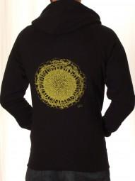 Fairwear Organic Unisex Zipper Earth-Roots BlackYellow
