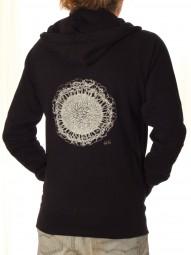 Fairwear Organic Unisex Zipper Earth-Roots BlackWhite