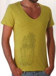 Fairwear Organic V-Neck-Shirt Mustard Yellow Birkenwald