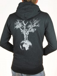 Fairwear Organic Zipper Hoodie Men Weltenbaum Heather Grey