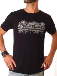 Fairwear Tencel Shirt Men BlackWhite Mirror