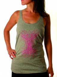 Fairwear Tanktop Women Melange Grey Tribal